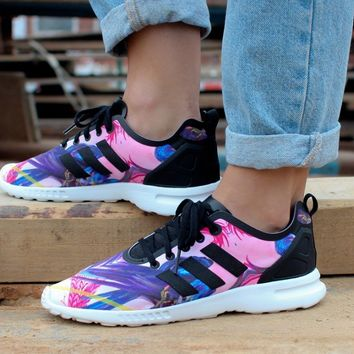 ADIDAS ZX FLUX SMOOTH W (CORE BLACK / CORE BLACK / CORE WHITE)