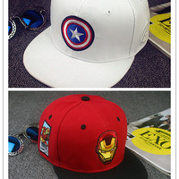 Captain America, Iron Man cartoon cotton cap baseball cap