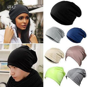 Hirigin Winter Unisex Women's Men's Knitted Knit Cotton Warm Ski Crochet Slouch Hat Cap Beanies