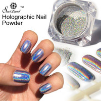 1g/Box 3D Shiny Holographic Laser Powder Punk Nail Glitter Metal Pigments Dust Rainbow Chrome Powder Nail Decoration