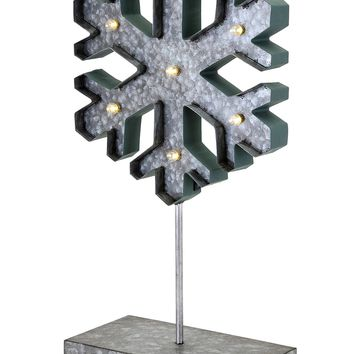 Homestead Christmas Small Lighted Snowflake On Stand