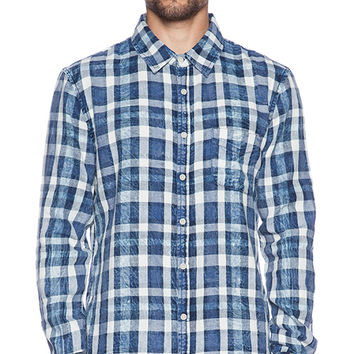 Joe's Jeans Blue Spotted Plaid in Blue