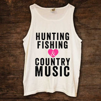 Hunting Fishing Country Music Tank