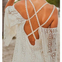Lace Sexy Beach Sports Hoodies Bikini Coverup Dress a12913