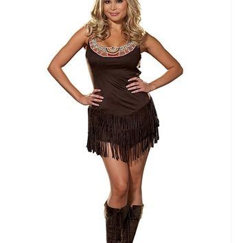 Plus Size Pocahottie Costume (3X-4X,As Shown)