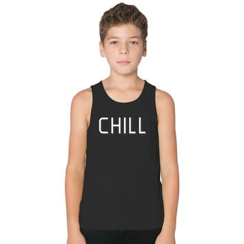 Funny Netflix And Chill Kids Tank Top