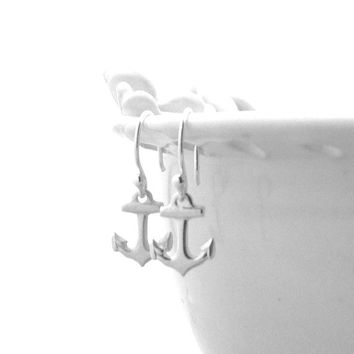 Anchor Earrings, Sterling Silver Jewelry, Small Anchor Earrings, Anchor Jewelry, Sterling Silver Anchor Earrings, Anchor Charms