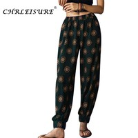 CHRLEISURE S-L Summer Boho Pants Women Beach Harem Pants Casual Printed Pantalon Femme Fashion Loose Pantalon Mujer Bohemia