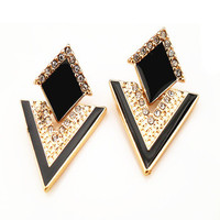 Beautiful Elegant Triangle Fashion Women's Drop Earrings