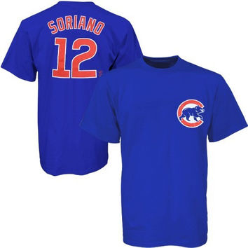 Majestic Chicago Cubs #12 Alfonso Soriano Youth Player Name & Number T-Shirt - Royal Blue - http://www.shareasale.com/m-pr.cfm?merchantID=7124&userID=1042934&productID=528461988 / Chicago Cubs