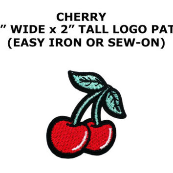 Cherry cherries slots retro gambling embroidered applique Easy Iron-on patch