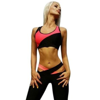 2018 Women Sleeveless Sports Yoga Workout Gym Fitness Leggings Pants Jumpsuit Athletic Clothes #GH