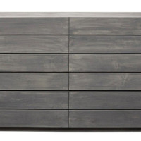Laguna 6-Drawer Dresser, Gray Wash, Dressers