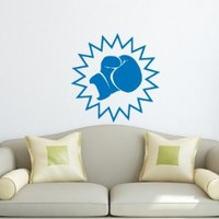 Wall Decal Vinyl Sticker Art Design Boxing Glove Sign Room Nice Picture Decor Hall Wall Chu1304