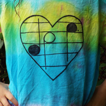 Music Heart Tie Dye Shirt, Teen Gift, Music Tiedye, Musical Note Tshirt, Music Lover Gift, Festival Wear, Rainbow Stripe Music Tshirt