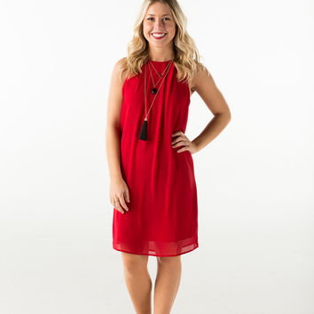 Sleeveless chiffon dress-more colors