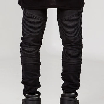 Wraith Biker Denim - Black Stone Wash