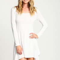 White Swing Tee Knit Dress - LoveCulture