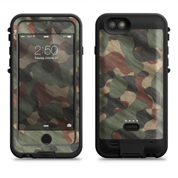 The Traditional Camouflage Fabric Pattern  iPhone 6/6s Plus LifeProof Fre POWER Case Skin Kit
