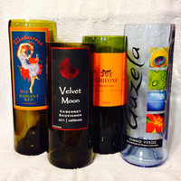Wine Bottle Vases. Wedding or Home Decor