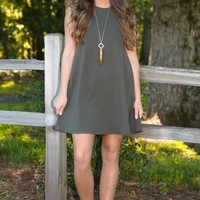 Best of Times Dress-Olive