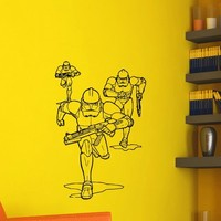 Star Wars Clone Troopers Wall Decals Vinyl Stickers Home Decor Design Interior Art Mural Boys Room Kids Bedroom Dorm Z777