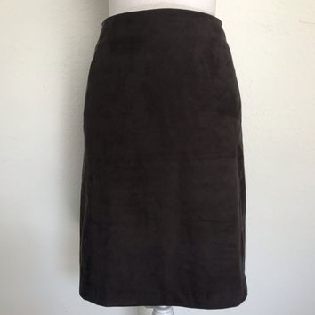 J. JILL Women's Plus Size 18P Walnut Straight Stretch Lined Skirt NEW WITH TAGS