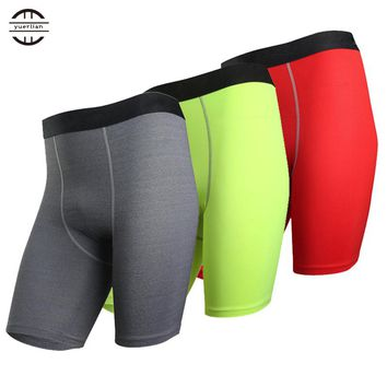 New Base layer Compression Shorts Men football Basketball Shorts Inner wear Summer Athletic Gym Fitness Sports Red Running short