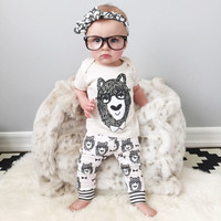 Baby Girl Clothes - Little Monsters White