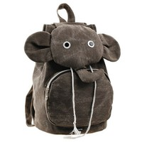 Canvas Elephant Backpack