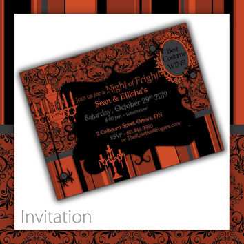 Halloween Party Invitation - Victorian Howl ~ Halloween Invitation, Halloween Invite, Halloween Party, Halloween theme party