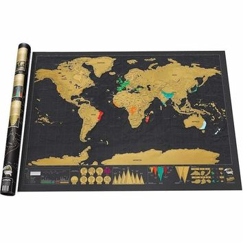 Lifetime Travel Scratch Map Diary