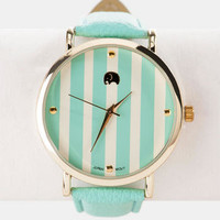 BEVERLY HILLS STRIPED WATCH IN MINT