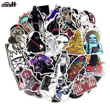 Star Wars Force Episode 1 2 3 4 5 100 PCS PVC Not Repeat  Graffiti Waterproof Sticker For Luggage Car Guaitar Skate Phone Laptop Bicycle Moto Stickers AT_72_6