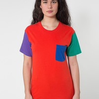 rsa2404w - Unisex Power Washed Color Block Pocket Tee