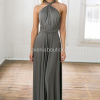 The Perfect Date 2.0 Multiway Maxi Dress (Grey)
