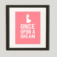 YOU CHOOSE COLOR Once Upon A Dream Disney by beccanicole05 on Etsy