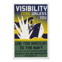 Visibility zero unless you lend binoculars - WPA Print from Zazzle.com