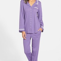 Women's Eileen West 'Luna' Notch Collar Pajamas