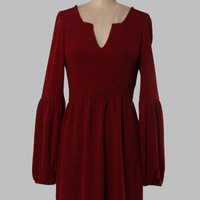 Christa Knit Dress- Burgundy