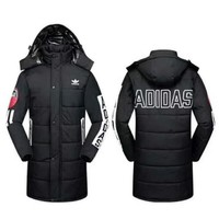 ADIDAS Women Men Black Long Jacket Coat I-A001-MYYD
