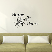Wall Decals Home Quote Decal Vinyl Sticker Bird Branch Decal Home Decor Bedroom Dorm Living Room MN 145