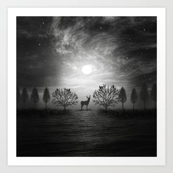 Into the wild Art Print by Viviana Gonzalez