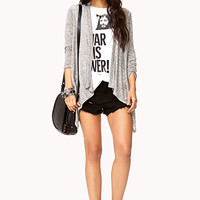 Heathered Shredded Back Cardigan | FOREVER 21 - 2000075102