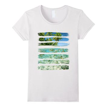 T-Shirt- Tropical Paradise Island- Beach- Palm Tree- Marine