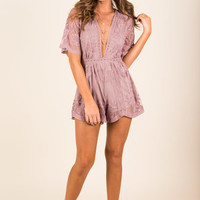 Face Of Flawless Romper, Mauve