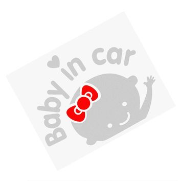 Baby in Car Car Stickers and Decals Silver Reflective Auto Motorcycle Sticker Car Styling Decoration On Rear Windshield