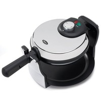 Oster 3874 Flip Nonstick Belgian Waffle Maker, Chrome/Black