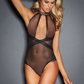 Gisele Halter Neck Sheer Teddy