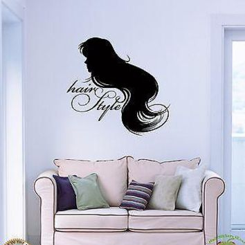 Wall Stickers Vinyl Decal Hair Style Barber Salon Spa Fashion woman Unique Gift z1086